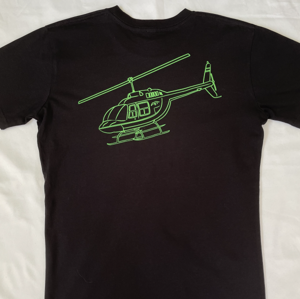 BELL 206 Helicopter T-shirt Green