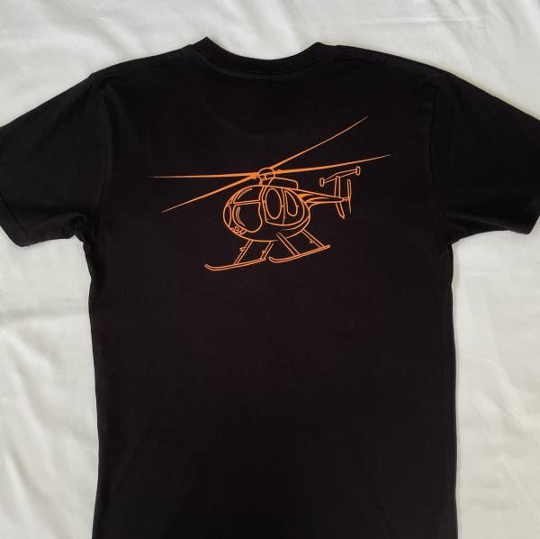 MD 500 Helicopter T-shirt Orange